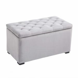 BAG1 - Bancuta 75 cm, banca cu 2 tabureti, bancheta cu lada, living, dormitor, hol - Gri