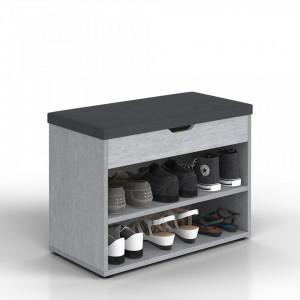BAG204 - Banca, lada pentru Hol, pantofi, depozitare - Gri