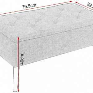 BAM221 - Bancuta 80 cm, bancheta, banca living, dormitor, hol - Mov