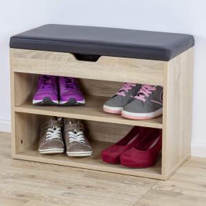 BAM223 - Banca 60 cm pentru Hol, pantofi, depozitare - Maro, Alb, Alb-Negru, Wenge, Sonoma, Stejar