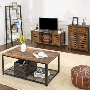 COMI201 - Comoda 70 cm pentru hol, living, dormitor, stil industrial - Maro