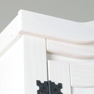 DUA203 - Dulap Sifonier dublu cu bara umerase, rafturi si sertare dormitor - Alb
