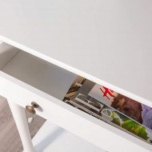 MAA213 - Masa toaleta, 80 cm, consola cosmetica machiaj masuta vanity make-up cu raft pentru hol - Alb