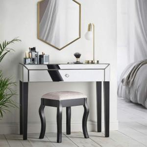 MAOG104 - Set Masa Argintie toaleta, 92 cm, cosmetica machiaj oglinda masuta
