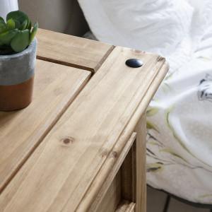 NOM206 - Set 2 Noptiere maro cu 3 sertare, pentru dormitor