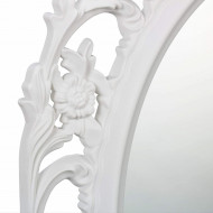 OGA207 - Oglinda perete ornamentala dormitor, living, baie - Alba