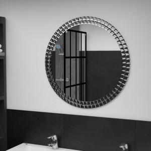 OGG2 - Oglinda 60 sau 70 cm, pentru perete ornamentala dormitor, living, baie - Argintie