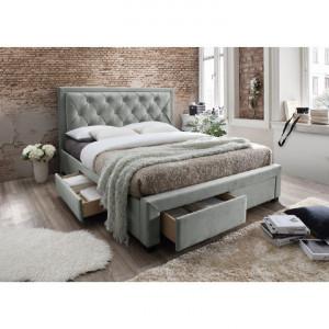 PAG602 - Pat tapitat pentru dormitor - 160/180 x200 - Gri