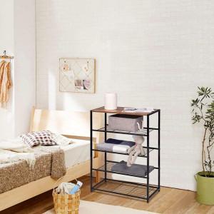 RAI216 - Rafturi birou 63 cm, stil industrial pentru bucatarie, baie, office, living, hol - Maro