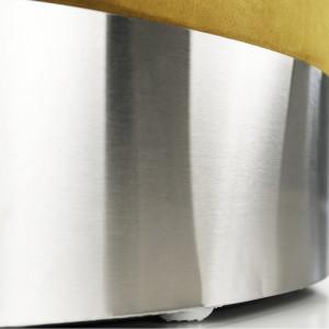 SCAG602 - Scaun tapitat, masa toaleta, taburet machiaj - Argintiu-Galben