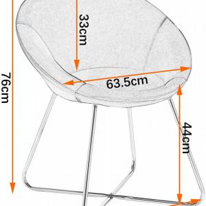 SCAU204 - Scaun masuta toaleta machiaj cosmetica tapitat - Auriu - Gri