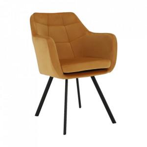 SCN601 - Fotoliu, Scaunel tapitat, scaun masuta, masa toaleta, mahiaj - Mustar