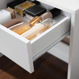 SEA347 - Set Masa alba toaleta, 80 cm, cosmetica machiaj oglinda masuta vanity cu oglinda cu LED