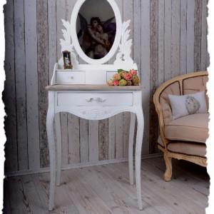 SEA59 - Set Masa alb toaleta cosmetica machiaj oglinda masuta