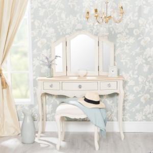 SEC107 - Set Masa crem toaleta cosmetica machiaj oglinda masuta cu scaun tapitat - Colectia Genova