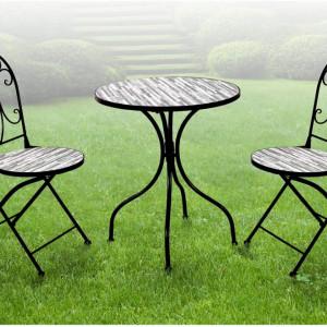 SEGN204 - Set Masa si scaune gradina, terasa, balcon, veranda, spatiu verde - Gri