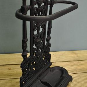 SUN101 - Suport depozitare umbrela, baston, pentru hol, fier forjat - Negru