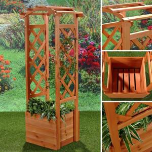 PEM2 - Pergola Jardiniera, ghiveci trandafiri lemn gradina, terasa, balcon - Maro