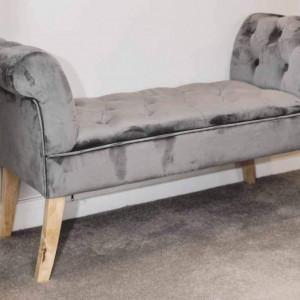 BAG104 - Divan, Canapea, fotoliu, sofa, bancheta, bancuta, banca living, dormitor, hol - Gri