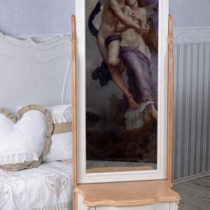 NOA51 - Noptiera, comoda cu oglinda, 2 sertare