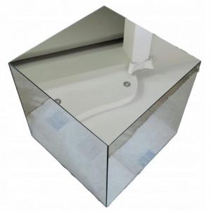 NOOG506 - Noptiera oglinda, 35 cm, pentru dormitor - Oglinda - Argintiu-Alb