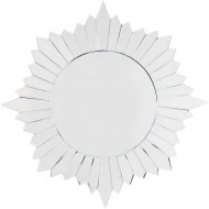 OGG118 - Oglinda 80 cm, pentru perete ornamentala dormitor, living, baie - Argintie