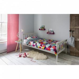 PAG102 - Pat gri pentru o persoana, dormitor - 90 x 190 cm