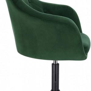 SCN206 - Scaun tapitat Verde catifelat pentru masa toaleta, birou, bar, lounge, inaltime reglabila