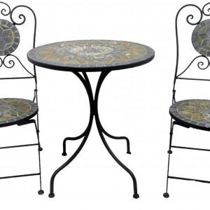 SEGM213 - Set Masa si scaune pliante Mozaic gradina, terasa, balcon