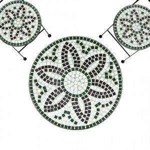 SEGV202 - Set Masa si scaune pliante Mozaic gradina, terasa, balcon - Verde