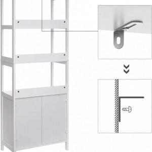 TULIP9 - Dulap, cu rafturi alb pentru baie, bucatarie, living - Tulip