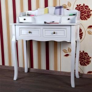 MAA13 - Masa toaleta 88 cm, cosmetica machiaj masuta vanity, birou - Alb