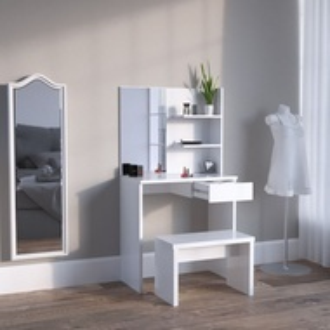 SEA333 - Set Masa alba toaleta cosmetica machiaj oglinda masuta vanity