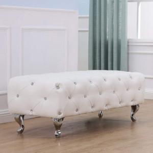 BAA108 - Divan, Canapea, fotoliu, sofa, bancheta, bancuta, banca living, dormitor, hol: Alba, piele ecologica