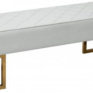 BAA217 - Bancuta 120 cm, Canapea, fotoliu, sofa, bancheta, banca living, divan dormitor, hol: Alba, piele ecologica