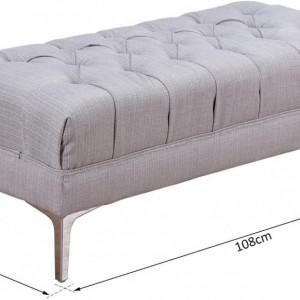 BAG208 - Bancuta 108 cm, Canapea, fotoliu, sofa, bancheta, banca living, dormitor, hol - Gri