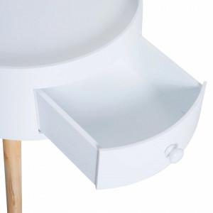 NOA16 - Set 2 Noptiere albe cu 1 sertar