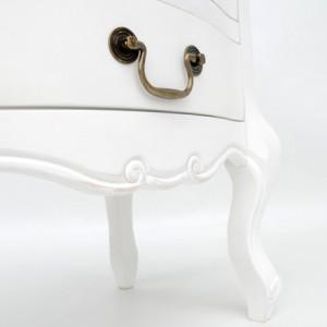 NOA55 - Set 2x noptiere albe pentru dormitor cu 3 sertare - Colectia Genova