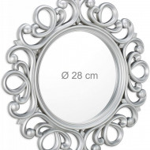 OGG202 - Oglinda ornamentala 50 cm, pentru perete, dormitor, living, baie - Arginitie