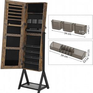 OGI202 - Oglinda caseta de bijuterii, dulap, dulapior cu picioare dormitor, dressing - Maro stil industrial