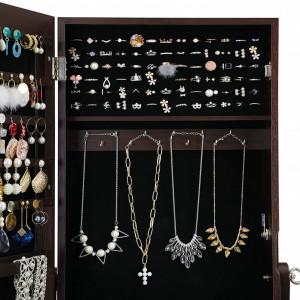 OGM201 - Oglinda caseta de bijuterii, dulap, dulapior cu picioare dormitor, dressing - Maro