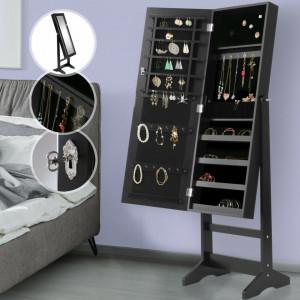 OGN9 - Oglinda caseta de bijuterii cu sau fara lumini, dulap, dulapior perete dormitor, dressing - Negru