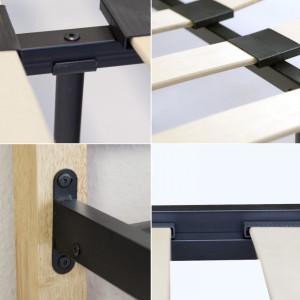 PAM202 - Pat maro - negru dormitor, 160 x 200 cm