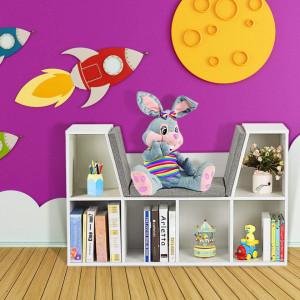 RAA201 - Rafturi biblioteca, hol, living, banca, bancuta, bancheta - Alb