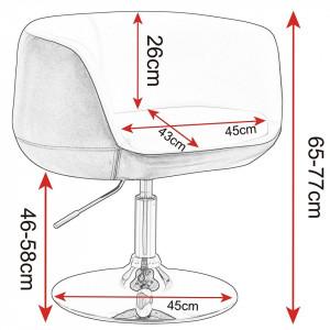 SCA201-R - Resigilat: Scaun tapitat Alb si Roz pentru masa toaleta, birou, bar, lounge, imitatie de piele, inaltime reglabila