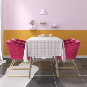 SCAU209 - Scaun masuta toaleta machiaj cosmetica tapitat - Auriu - Rosu