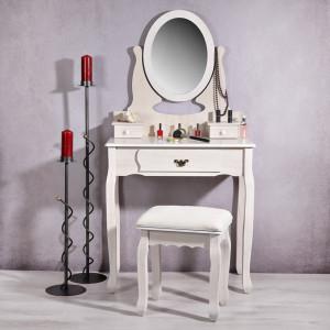 SEC3 - Set Masa natur toaleta cosmetica machiaj oglinda masuta vanity