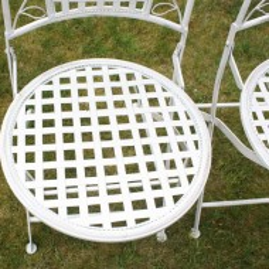 SEGA104 - Set Masa si scaune gradina, terasa, balcon - Alb antichizat