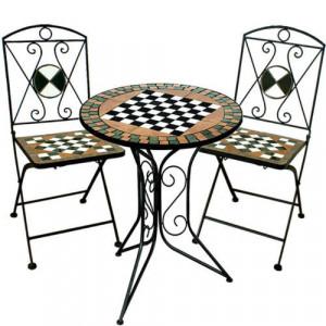 SEGV203 - Set Masa si scaune pliante Mozaic gradina, terasa, balcon - Verde
