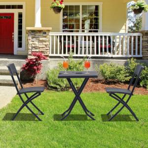 SEGN202 - Set Masa si scaune gradina, terasa, balcon, veranda, spatiu verde - Negru